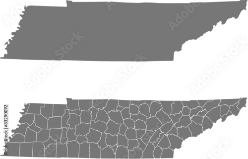 Fototapeta map of Tennessee obraz