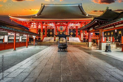Poster Temple Sensoji Temple in Tokyo, Japan