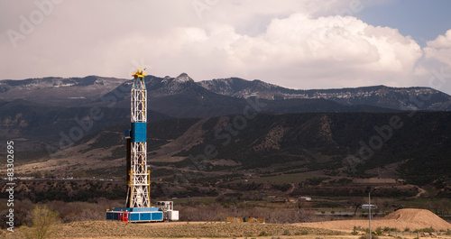 Oil Derrick Crude Pump Industrial Equipment Colorado Rocky Mount