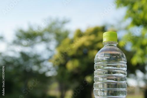 Fotografie, Obraz  ペットボトルと新緑