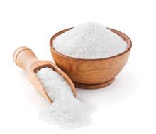 Regular Table Salt In A Wooden...
