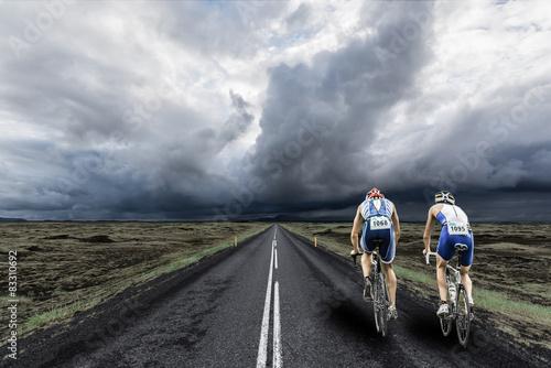 Tuinposter Fietsen triathlon cycling