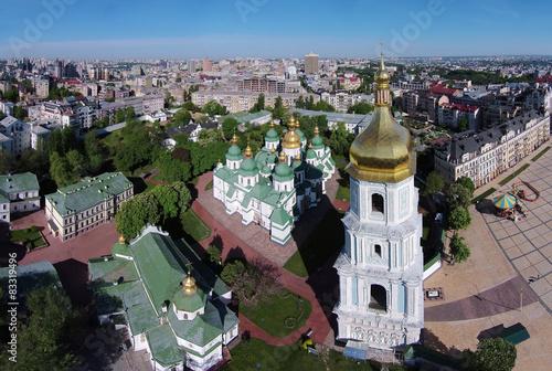 Foto op Plexiglas Kiev aerial view of Saint Sophia Cathedral in Kiev, Ukraine
