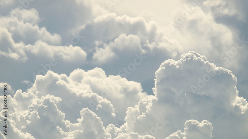 blue sky and beautiful clouds Wallpaper Mural