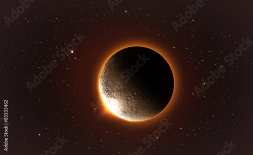 full lunar eclipse Elements of this image furnished by NASA #83333462
