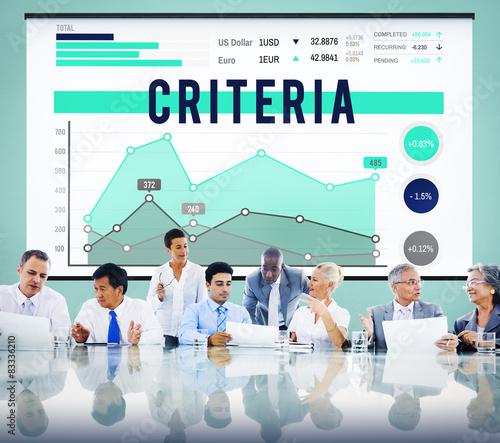 Fotografie, Obraz  Criteria Regulation Generality Business Marketing Concept