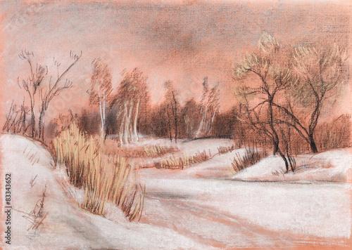 Winterlandschaft voller Weiß