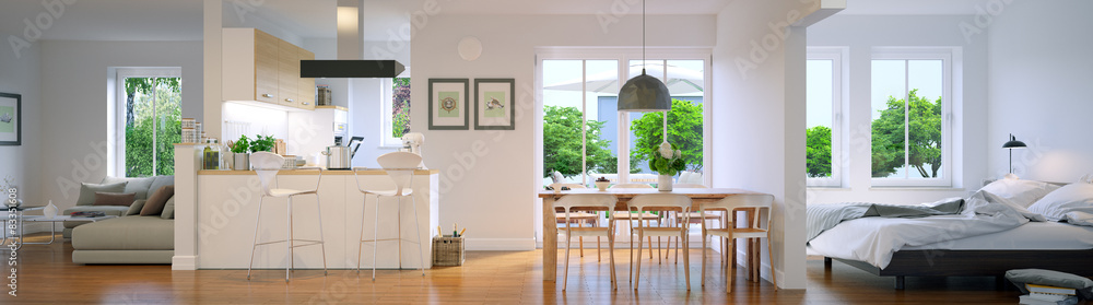 panoramiczny widok w nowym mieszkaniu <span>plik: #83351608 | autor: Christian Hillebrand</span>