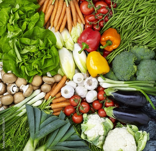 Fotografie, Obraz  Assortment of fruits and vegetables