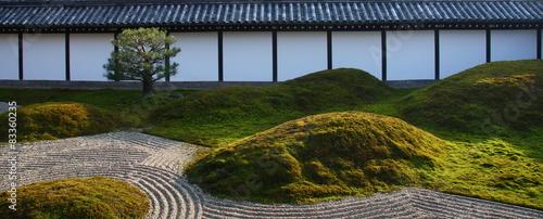 Photo sur Plexiglas Zen pierres a sable Zen garden in Kyoto (Tofuku-ji)