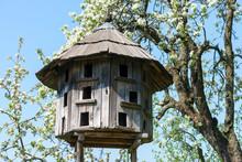 Old Wooden Dovecote. Museum Uzhgorod, Ukraine.