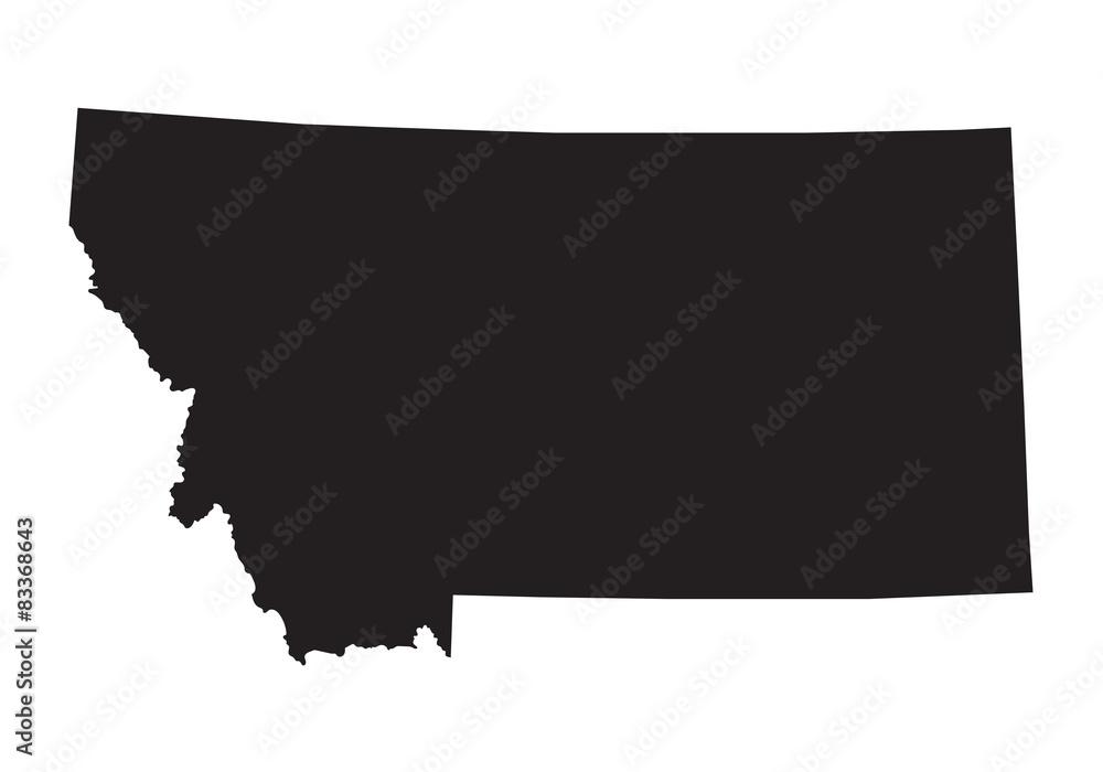 Fototapety, obrazy: black map of Montana