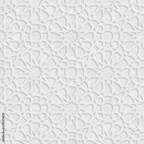 Photo  Arabesque Star Pattern with Grunge Light Grey Background