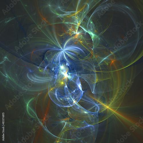 Fractal Light Forms 439 Poster