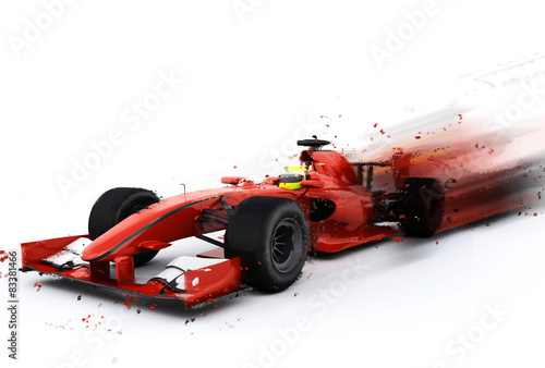 Deurstickers F1 F1 generic racing car with special effect