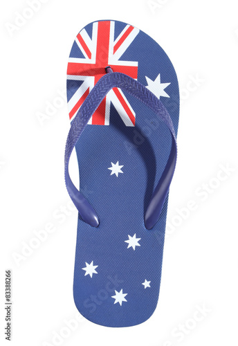 b55b4f59ee79 Australian flag thong - Buy this stock photo and explore similar ...