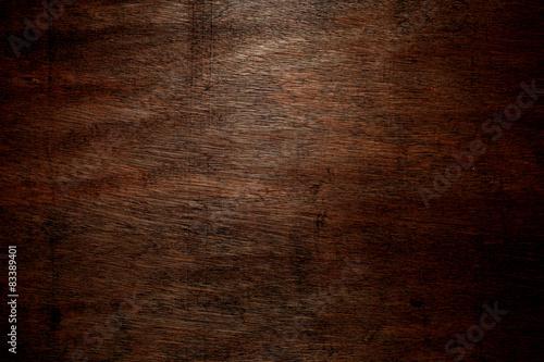 Canvastavla Dark wood background