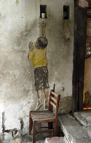 Fototapety do przedpokoju  sztuka-uliczna-w-penang