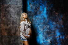Beautiful Pregnant Woman In Wh...