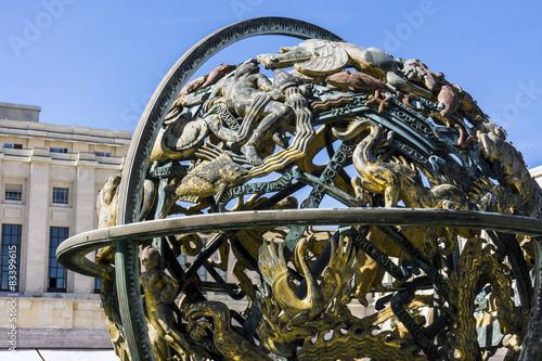 Fotografie, Obraz  Himmelsglobus am Palais de Nations der UN in Genf