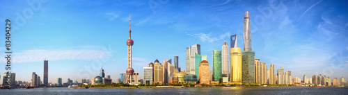 Shanghai skyline panorama, China