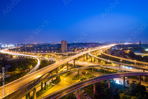 Spoed Foto op Canvas Canada overpass at night