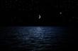 canvas print picture - Sternenhimmel über dem Meer