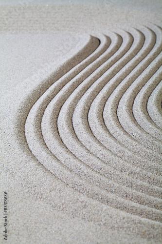 Photo stries dans le sable fin