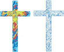 Catholic Ornamented Cross For Easter Holiday