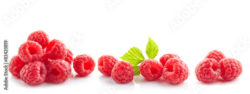 Fotomural heap of fresh raspberries