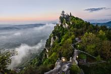 San Marino Castle Early Morning