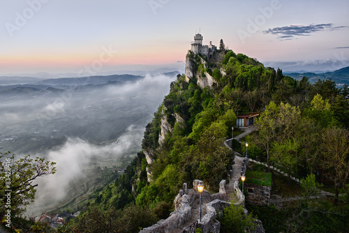 San Marino Castle Early Morning