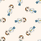hospital theme doctor , cartoon seamless pattern background