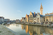 canvas print picture - Ghent the medieval town in Belgium