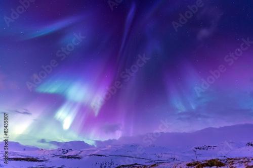 Northern Light Aurora borealis Iceland Fototapet