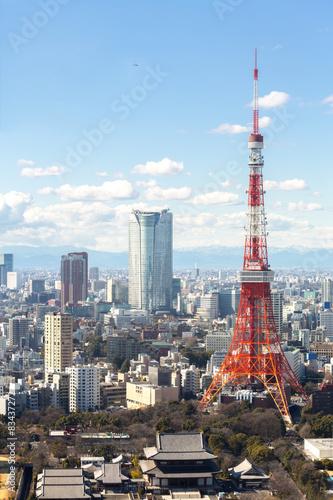 Foto auf AluDibond Tokio Tokyo Tower cityscape