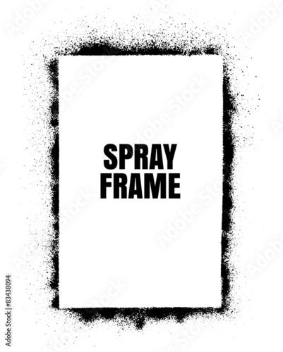 Frame Spray texture Wall mural