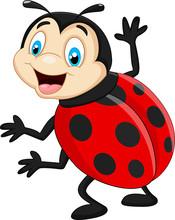Cartoon Ladybug Waving