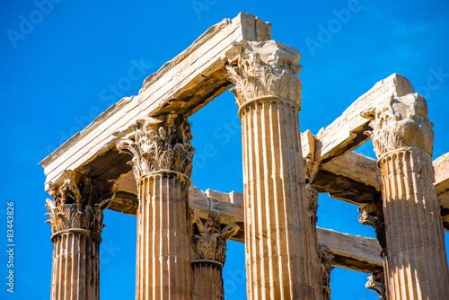 Photo  Corinthian columns of Zeus temple in Greece