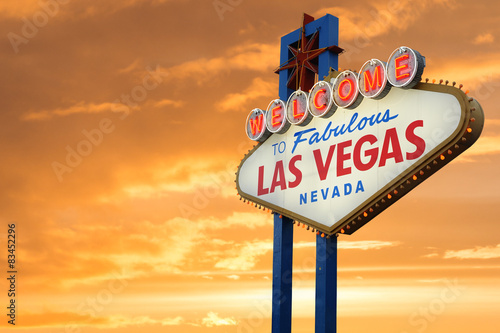 In de dag Las Vegas Welcome To Fabulous Las Vegas Nevada Sign