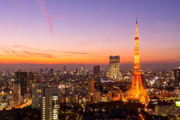 Panel SzklanyTokyo Tower, Tokyo, Japan