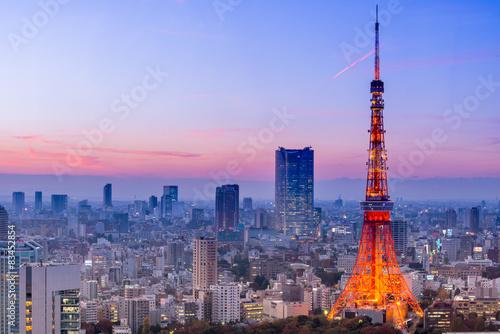 Deurstickers Tokio Tokyo Tower, Tokyo, Japan