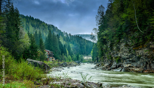 Printed kitchen splashbacks River Carpathian rivers
