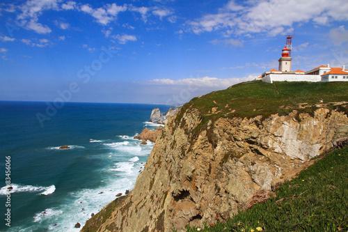 Montage in der Fensternische Leuchtturm Cabo da Roca, Portugal