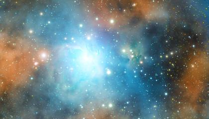 FototapetaStellar system in deep universe.