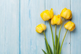 Fototapeta Tulipany - Yellow tulips