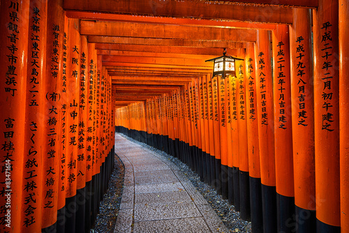 Acrylic Prints Kyoto Fushimi Inari shrine in Kyoto, Japan