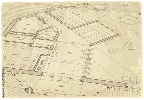 Architecture blueprint house plan old paper texture buy this architecture blueprint house plan old paper texture malvernweather Images