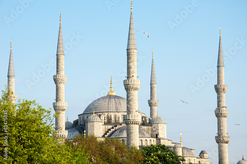 Photo  sultan ahmed mosque exterior in istanbul turkey