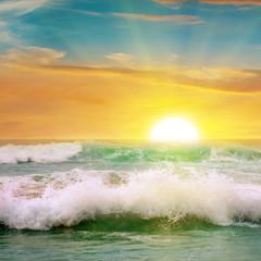 Fototapeta Wschód / zachód słońca sunrise over the ocean